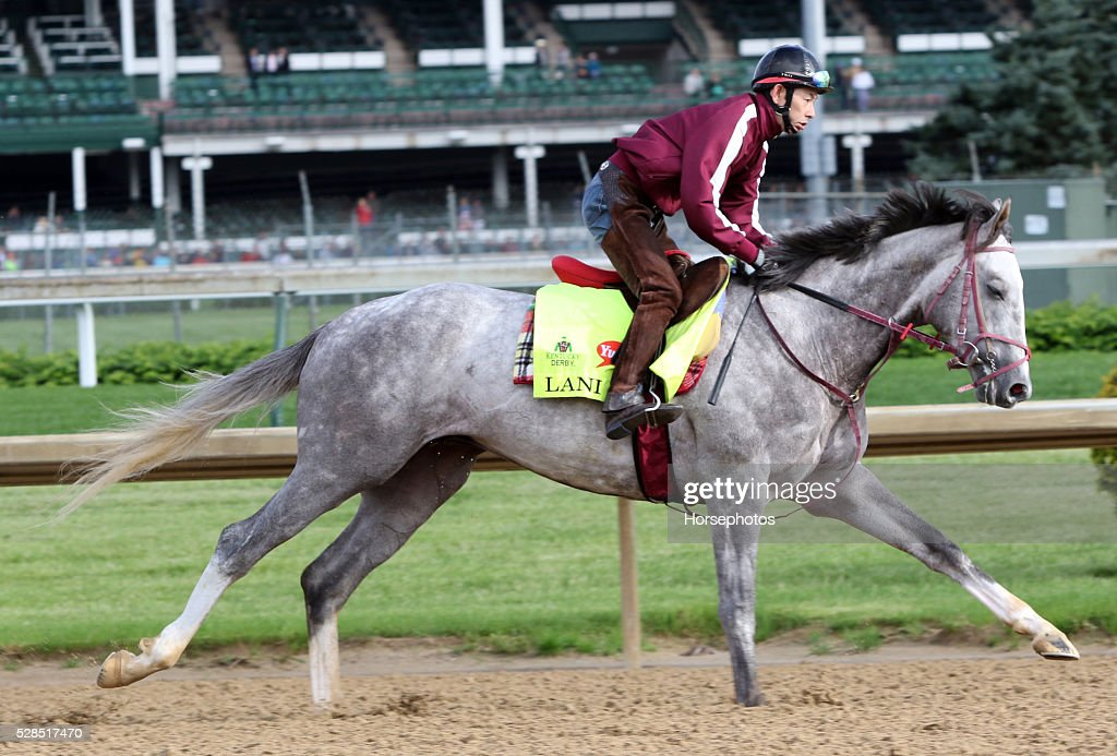 Kentucky Derby contender Lani gallops at Churchill Downs Race Track on May 5, 2016 at Churchill Downs, Louisville