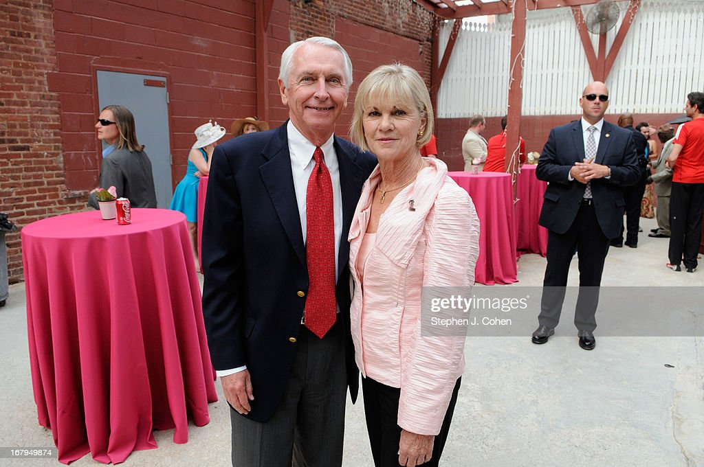 Kentucky Governor Steve Beshear,and Jane Beshear attends Kentucky Derby Festival Pegasus Parade staging area at Louisville Stoneware on May 2, 2013 in Louisville, Kentucky.