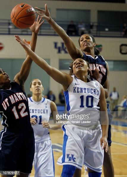 Kentucky guard Bernisha Pinkett has her shot blocked by TennMartin ...