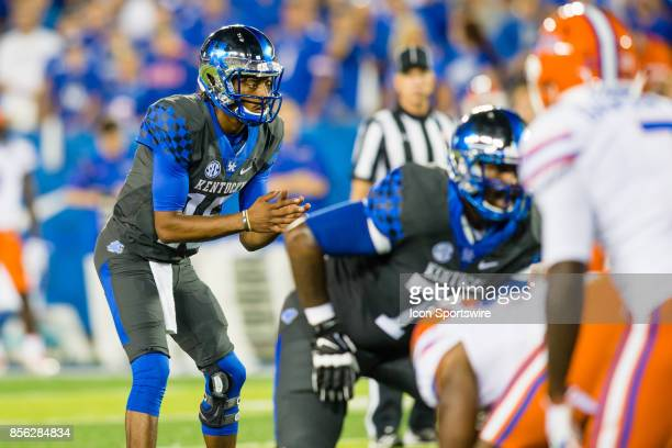 Kentucky quarterback Stephen Johnson is focused on the snap during a regular season college football game between the Florida Gators and the Kentucky...