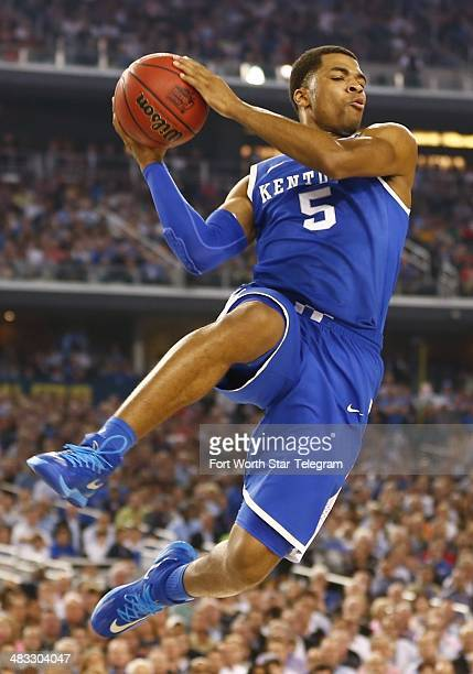 Kentucky Wildcats guard Andrew Harrison grabs a rebound as the Connecticut Huskies beat the Kentucky Wildcats 6054 in the NCAA Final Four...