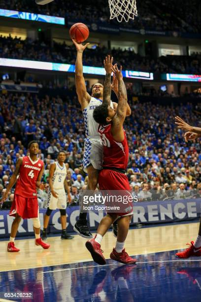 Kentucky Wildcats guard Isaiah Briscoe shoots a lay up during the second half of the Southeastern Conference Basketball Championship Game between the...