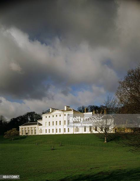 Kenwood House Hampstead London 1995 The south front at Kenwood House at the top of Hampstead Heath seen across the park against a stormy sky Robert...