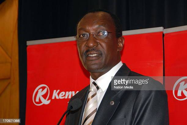 Kenya Airways CEO Titus Naikuni speaks during the investors briefing on the results of the companys performance in the financial year on June 14 2013...