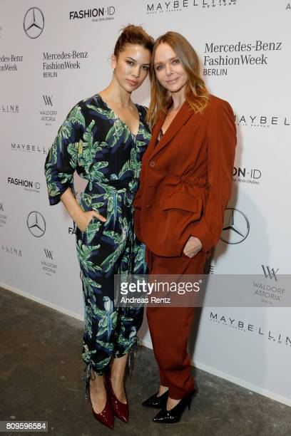 Kenya KinskiJones and Stella McCartney attend the 'Designer for Tomorrow' show during the MercedesBenz Fashion Week Berlin Spring/Summer 2018 at...