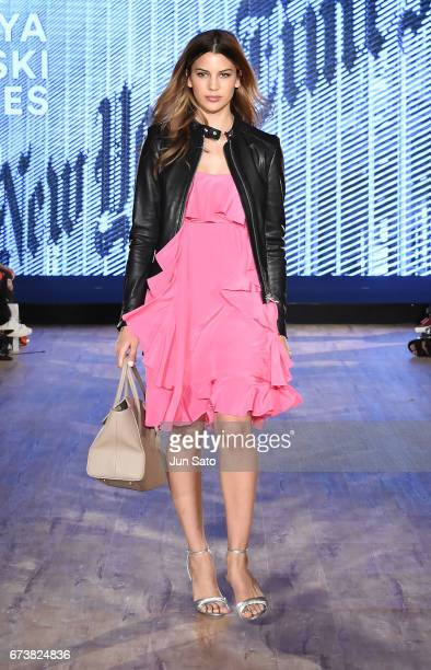 Kenya KinskiJones attends the Samantha Thavasa Millennial Stars Fashion Event on April 27 2017 in Tokyo Japan