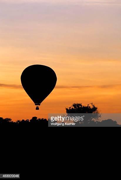 Kenya Masai Mara Sunrise With Hot Air Balloon