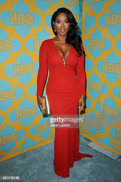 Kenya Moore attends HBO's post Golden Globe Awards party at The Beverly Hilton Hotel on January 11 2015 in Beverly Hills California