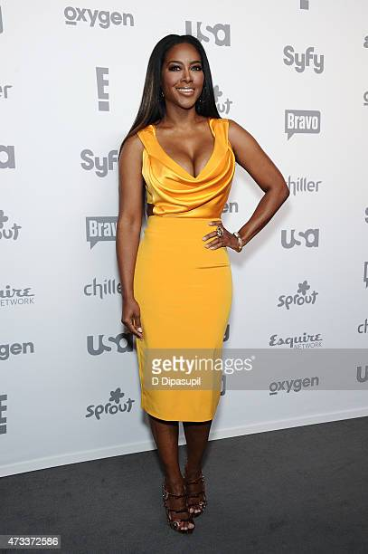 Kenya Moore attends the 2015 NBCUniversal Cable Entertainment Upfront at The Jacob K Javits Convention Center on May 14 2015 in New York City