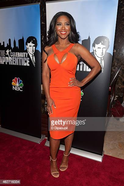 Kenya Moore attends the 'Celebrity Apprentice' Red Carpet Event at Trump Tower on February 3 2015 in New York City
