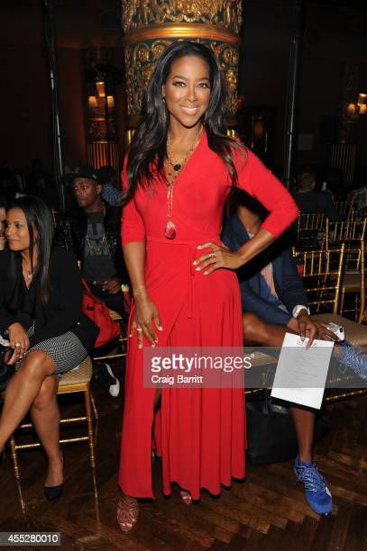 Kenya Moore attends the Kithe Brewster fashion show during MercedesBenz Fashion Week Spring 2015 on September 11 2014 in New York City