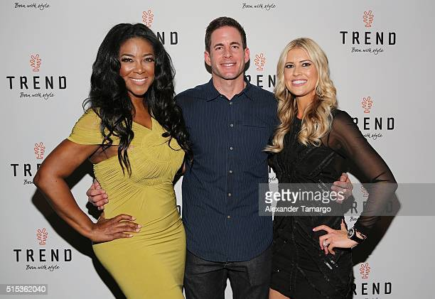 Kenya Moore of Bravo's 'The Real Housewives of Atlanta' Tartek El Moussa and Christina El Moussa of HGTV's 'Flip or Flop' new North American brand...