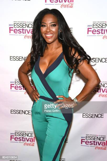 Kenya Moore poses backstage at the 2017 ESSENCE Festival presented by CocaCola at Ernest N Morial Convention Center on June 30 2017 in New Orleans...
