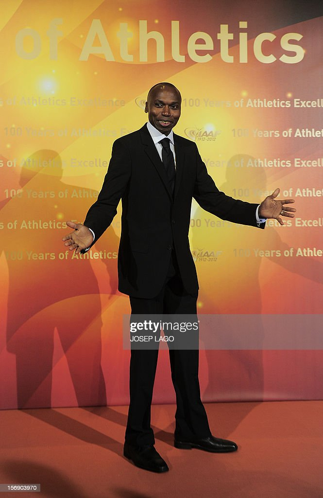 Kenyan born Danish former middle distance runner Wilson Kipketer arrives to attend the International Association of Athletics Federations (IAAF) gala on November 24, 2012 in Barcelona. Jamaica's athlete Usain Bolt and US athlete Allyson Felix were named the International Amateur Athletics Federation's athletes of the year.