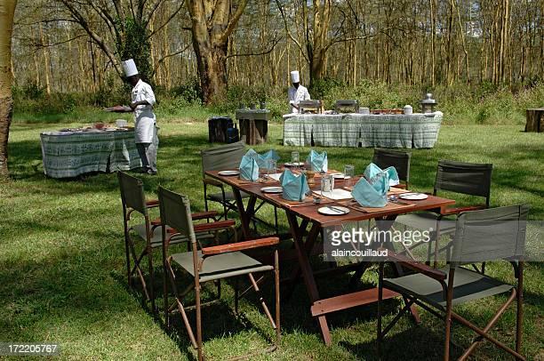 Kenyan bush lunch