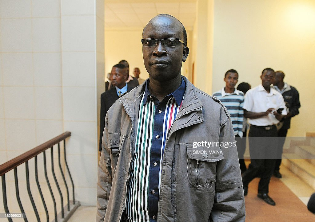 Kenyan ex-journalist Walter Barasa arrives on October 9, 2013 at the Nairobi Law court to file an urgent application to stop his arrest and handing over to the International Criminal Court (ICC). The International Criminal Court said on October 2 it had issued a warrant for the arrest of Walter Barasa for allegedly trying to bribe witnesses to drop their testimony in the crimes against humanity trial of Deputy President William Ruto. Barasa, 41, 'is charged with several offences against the administration of justice including corruptly influencing or attempting to corruptly influence ICC witnesses,' the Hague-based ICC said in a statement. MAINA