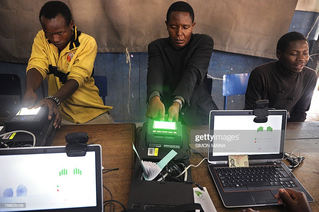 Kenyans register as voters for the March 2013 general elections on December 18, 2012 in the country's capital Nairobi .The Independent Electoral and Boundaries Commission (IEBC) has taken biometric computer equipment to populations in remote tribal areas in order to ensure that the chance of voting fraud is decreased for the country's forthcoming elections in March 2013. The BVR kits, which will be used in next year's March polls, are said to be the only way of eliminating rigging and other malpractices that characterised the 2007 presidential polls.