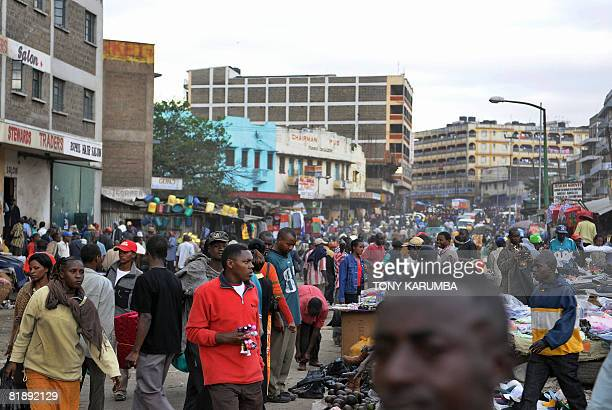 Kenyans throng a street in a Nairobi suburb on July 102008 According to an United Nations Population Fund report the population of countries in...