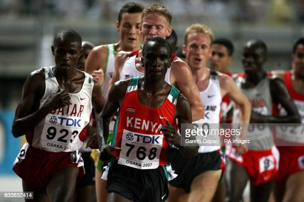 Kenya's Eliud Kipchoge in action during the 5000 metres