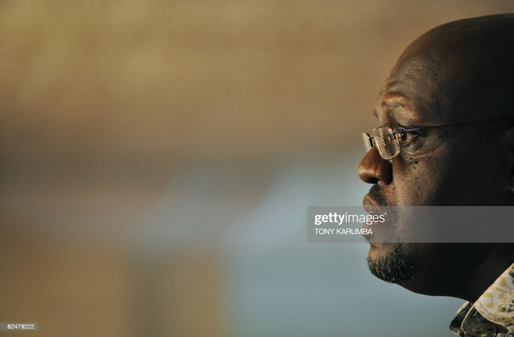 Kenya's former top anti-corruption chief John Githongo addresses a press conference in Nairobi, on August 20, 2008 where he called for amnesty for those who confess to economic crimes. John Githongo, who fled Kenya three years ago after exposing massive corruption scandals at the highest levels of the state, argued that inquiries 'not only delay justice but makes ultimate accountability less likely.'