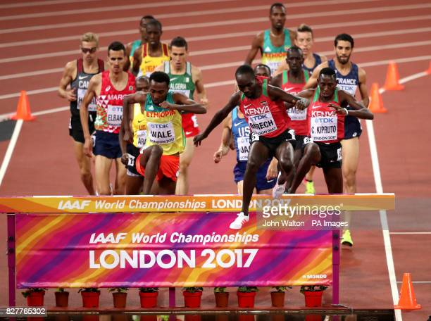 Kenya's Jairus Kipchoge Birech in action during the Men's 3000m Steeplechase during day five of the 2017 IAAF World Championships at the London...