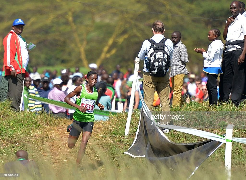 Kenya's long distance runner Alice Aprot competes on February 13, 2016 in the IAAF permit/National Cross Country championships in Nairobi. The World Anti-Doping Agency (WADA) said on February 11 they were 'disturbed' by claims that two banned Kenyan athletes were asked to pay nearly $50,000 as a bribe to have their suspensions cut. Francisca Koki said she and fellow runner Joyce Zakari, suspended for doping violations at the Beijing World Championships, claimed Athletics Kenya chief executive officer Isaac Mwangi asked them for the bribe but they were unable to pay. / AFP / STRINGER