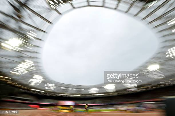 Kenya's Samwel Mushai Kimani and guide James Boit in action during the Men's 5000m T11 Final during day two of the 2017 World Para Athletics...