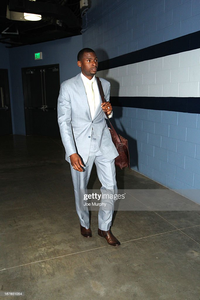 Kenyon Dooling #55 of the Memphis Grizzlies walks in before the game against the Los Angeles Clippers in Game Four of the Western Conference Quarterfinals during the 2013 NBA Playoffs on April 25, 2013 at FedExForum in Memphis, Tennessee.