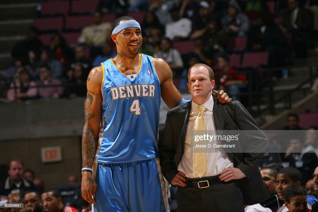 7f6502903916 ... Kenyon Martin 4 of the Denver Nuggets head coach and Lawrence Frank of  the New ...