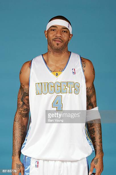 Kenyon Martin of the Denver Nuggets poses for a portrait during NBA Media Day on September 29 2008 at the Pepsi Center in Denver Colorado NOTE TO...