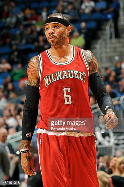 Kenyon Martin of the Milwaukee Bucks during the game against the Orlando Magic on January 29 2015 at Amway Center in Orlando Florida NOTE TO USER...