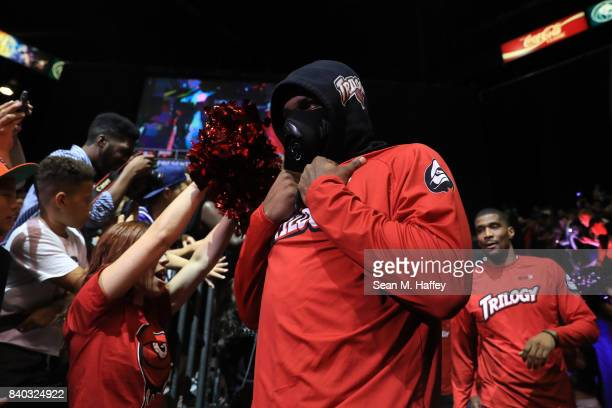 Kenyon Martin of Trilogy during the BIG3 three on three basketball league championship game on August 26 2017 in Las Vegas Nevada