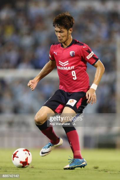 Kenyu Sugimoto of Cerezo Osaka in action during the JLeague J1 match between Jubilo Iwata and Cerezo Osaka at Yamaha Stadium on August 19 2017 in...