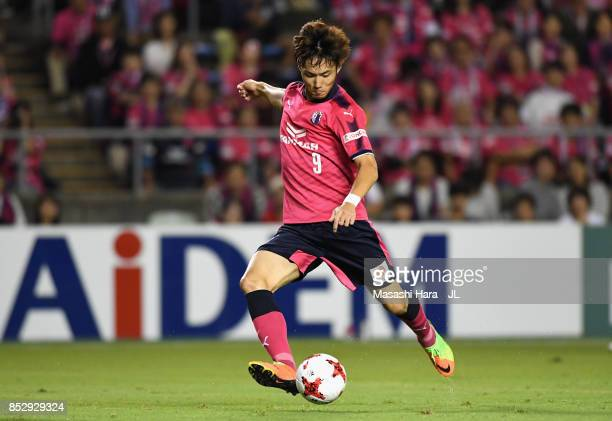 Kenyu Sugimoto of Cerezo Osaka in action during the JLeague J1 match between Cerezo Osaka and Vegalta Sendai at Kincho Stadium on September 23 2017...