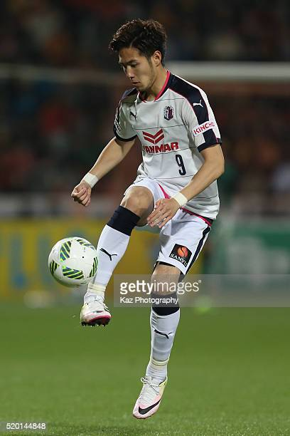 Kenyu Sugimoto of Cerezo Osaka in action during the JLeague second division match between Shimizu SPulse and Cerezo Osaka at the IAI Stadium...