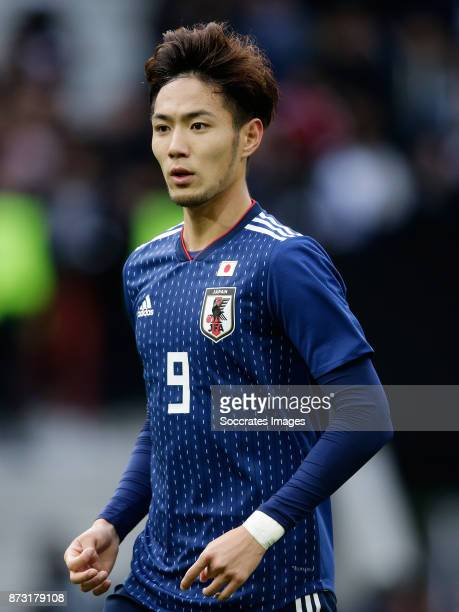 Kenyu Sugimoto of Japan during the International Friendly match between Japan v Brazil at the Stade Pierre Mauroy on November 10 2017 in Lille France