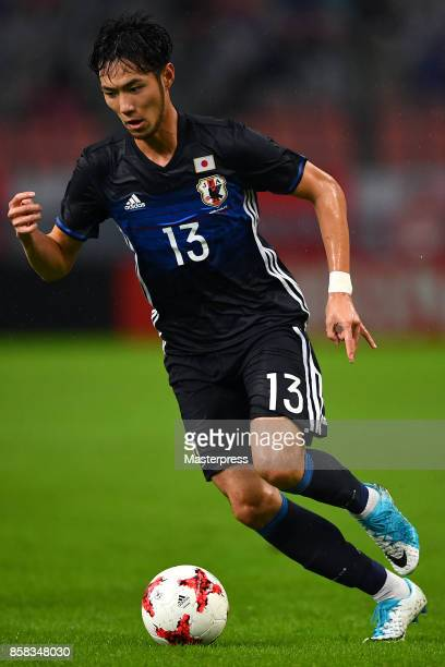 Kenyu Sugimoto of Japan in action during the international friendly match between Japan and New Zealand at Toyota Stadium on October 6 2017 in Toyota...