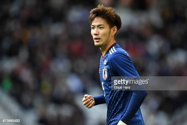 Kenyu Sugimoto of Japan in action during the international friendly match between Brazil and Japan at Stade PierreMauroy on November 10 2017 in Lille...