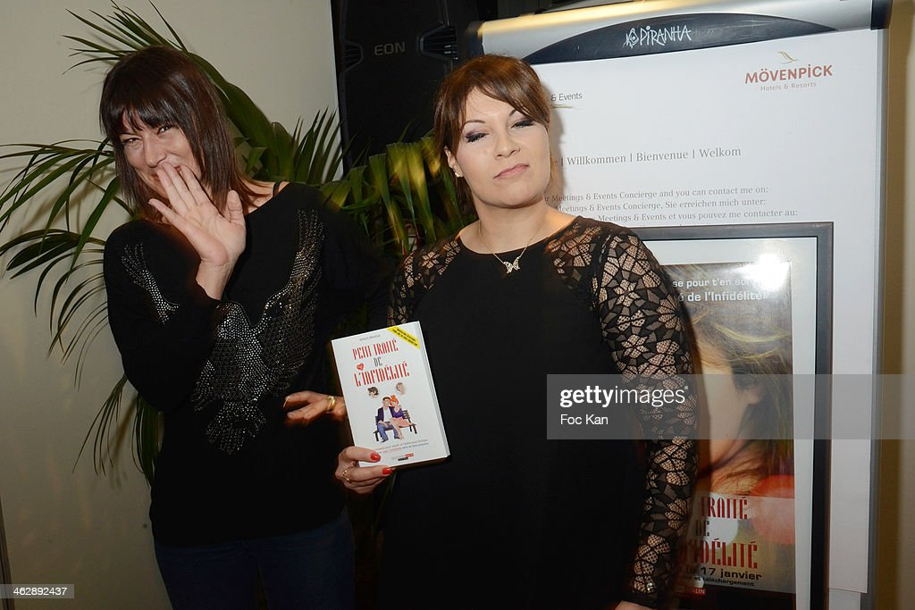 Kenza Braiga, and Marion Dumas attend 'Petit Traite De L'Infidelite' (Little Treatise About Infidelity) Kenza Braiga Book Launch Cocktail hosted by Gleeden.com at the Movenpick Paris Neuilly on January 15, 2014 in Paris, France.