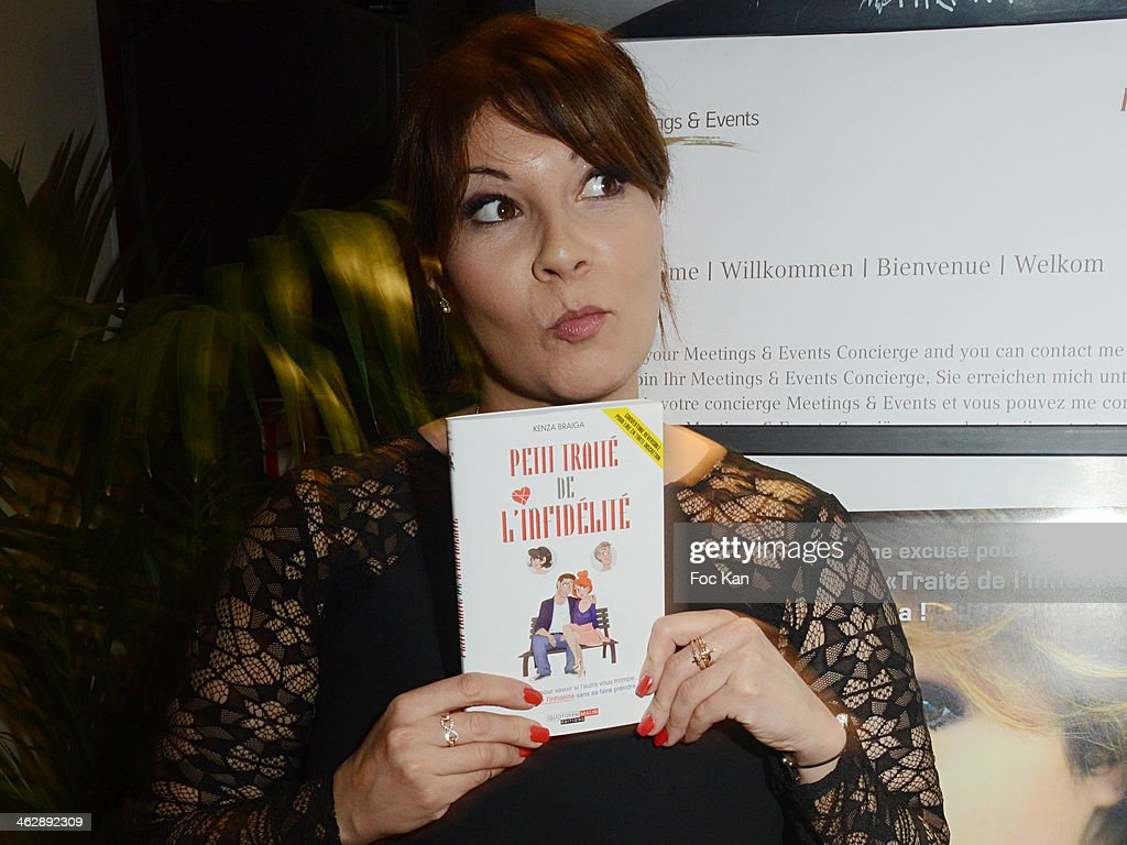 Kenza Braiga, attends the 'Petit Traite De L'Infidelite' (Little Treatise About Infidelity) Kenza Braiga Book Launch Cocktail hosted by Gleeden.com at the Movenpick Paris Neuilly on January 15, 2014 in Paris, France.