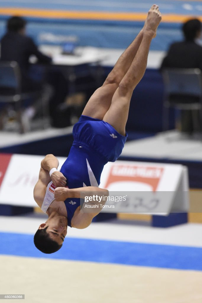 Kenzo Shirai of Japan competes on the floor during day two of the Artistic Gymnastics NHK Trophy at Yoyogi National Gymnasium on June 8 2014 in Tokyo...