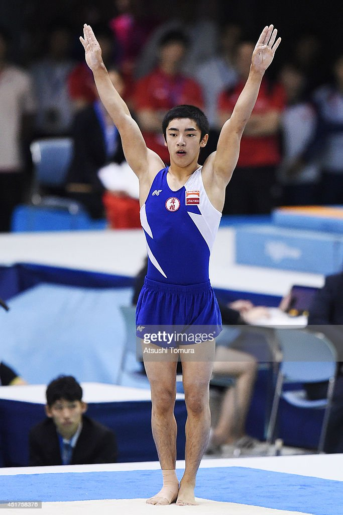 Kenzo Shirai of Japan competes on the Floor during the 68th All Japan Gymnastics Apparatus Championships on July 6 2014 in Chiba Japan