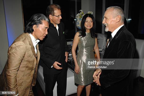 Kenzo Takada Edouard Ettedgui Vivienne Tam and Dennis Hopper attend MANDARIN ORIENTAL HOTEL GROUP Party for the SOTHEBY'S Contemporary Asian Art...