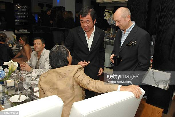 Kenzo Takada Kengo Kuma and Piero Lissoni attend MANDARIN ORIENTAL HOTEL GROUP Party for the SOTHEBY'S Contemporary Asian Art Exhibition at The...