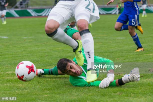 Keouf Shareef of Israel tries to catch the ball during the 'Four Nations Tournament' match between U17 Germany and U17 Israel on September 10 2017 in...