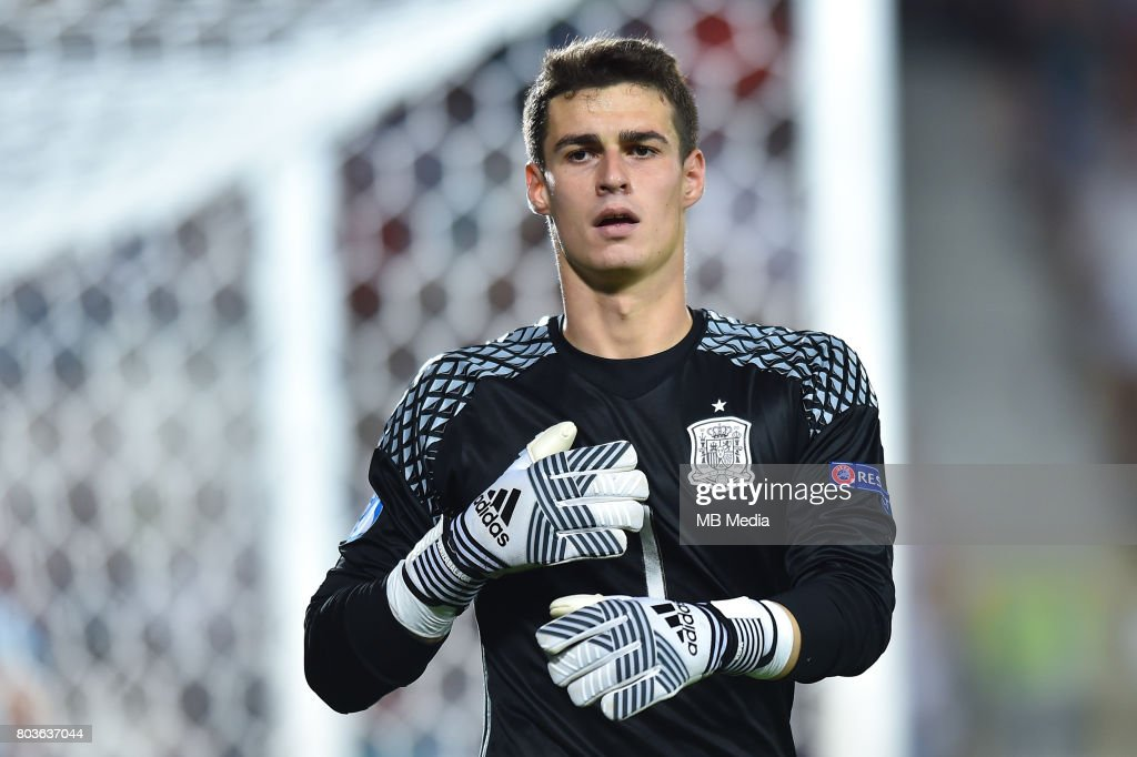 Kepa Arrizabalaga during the UEFA European Under-21 match between Spain and Italy on June 27, 2017 in Krakow, Poland.