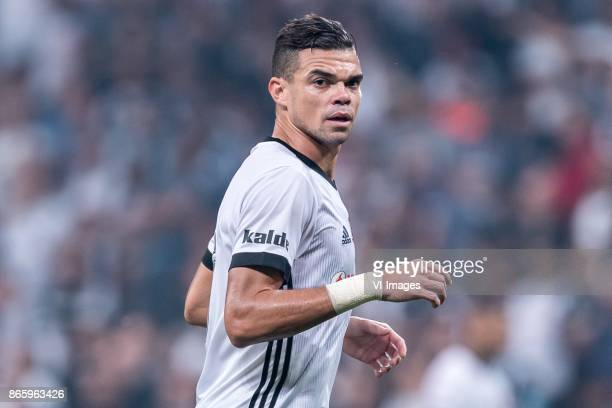 Kepler Laveran Lima Ferreira of Besiktas JK during the Turkish Spor Toto Super Lig football match between Besiktas JK and Medipol Basaksehir FK on...