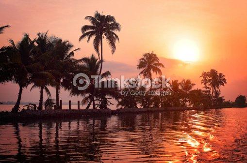 Kerala sunrise : Stock Photo