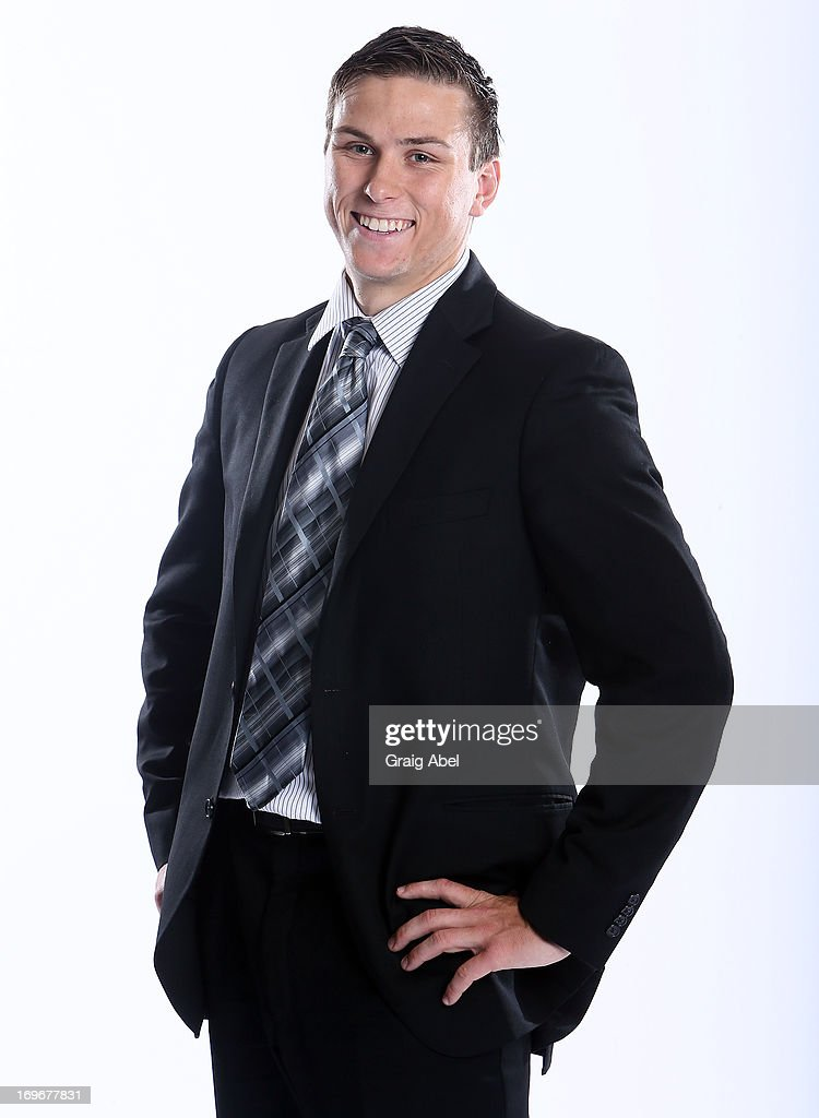 Kerby Rychel has his formal portrait taken during the 2013 NHL Combine May 30, 2013 at the Westin Bristol Place Hotel in Toronto, Ontario, Canada.