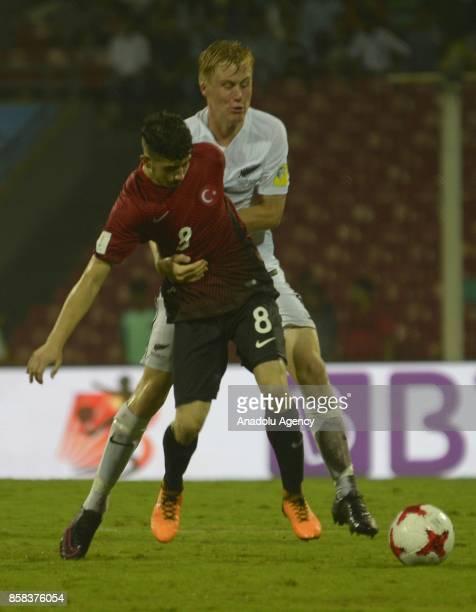 Kerem Atakan Kesgin of Turkey U17 in action during the FIFA U17 World Cup India 2017 football match between Turkey U17 and New Zealand U17 in Mumbai...